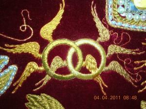 Престолы.Деталь Господской Плащаницы для монастыря Новый Иерусалим.